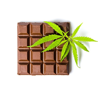 cannabis chocolate at a dispensary